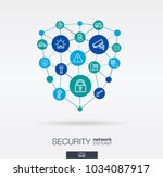 security  access control... | Shutterstock .eps vector #1034087917