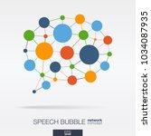 abstract social media market... | Shutterstock .eps vector #1034087935