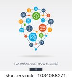 travel integrated thin line web ... | Shutterstock .eps vector #1034088271