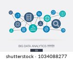 bigdata integrated thin line... | Shutterstock .eps vector #1034088277