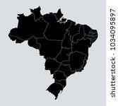 black map of brazil. gray... | Shutterstock .eps vector #1034095897