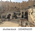 ancient ruins   mikvehs  ritual ... | Shutterstock . vector #1034096335