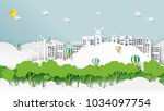 nature landscape and green...   Shutterstock .eps vector #1034097754