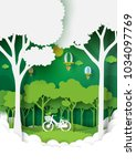 eco and nature concept paper... | Shutterstock .eps vector #1034097769
