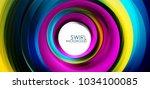 spiral swirl flowing lines 3d... | Shutterstock .eps vector #1034100085