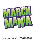 march mania purple green vector ... | Shutterstock .eps vector #1034102281