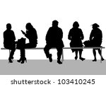 image of people on bench | Shutterstock . vector #103410245