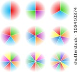 collection of nine cyclic... | Shutterstock .eps vector #103410374