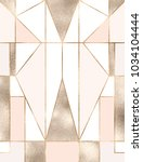 art deco background with gold... | Shutterstock .eps vector #1034104444