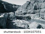 lunar landscape of beautiful... | Shutterstock . vector #1034107051