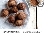7 raw superfoods cacao protein... | Shutterstock . vector #1034132167
