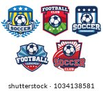 soccer badge design collection | Shutterstock .eps vector #1034138581