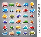 transportation sticker icons   Shutterstock .eps vector #103414211