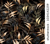 leafy vector seamless pattern.... | Shutterstock .eps vector #1034142259