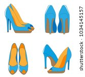 a pair of high heeled shoes | Shutterstock .eps vector #1034145157
