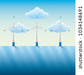 windmills and power by the...   Shutterstock .eps vector #1034148691