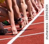sprintstart in track and field | Shutterstock . vector #103415654