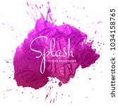 beautiful hand paint watercolor ... | Shutterstock .eps vector #1034158765