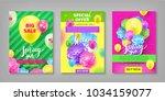 banner  spring sale discount ... | Shutterstock .eps vector #1034159077
