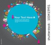 speech background with... | Shutterstock .eps vector #103415951
