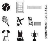 tennis icons | Shutterstock .eps vector #103416161