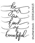 hand lettering be your own kind ...
