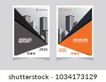 annual report  pamphlet ... | Shutterstock .eps vector #1034173129
