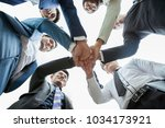 business people teamwork... | Shutterstock . vector #1034173921