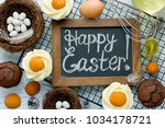 easter egg cupcakes   chocolate ...   Shutterstock . vector #1034178721