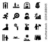 solid vector icon set   metal... | Shutterstock .eps vector #1034188045