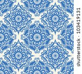 vector seamless floral pattern... | Shutterstock .eps vector #103419131