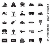 solid black vector icon set  ... | Shutterstock .eps vector #1034195065