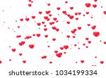 red and pink heart. valentine's ... | Shutterstock . vector #1034199334