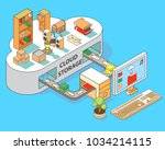 cloud storage flat 3d isometric ...