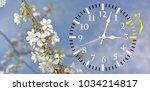daylight saving time. dst. wall ... | Shutterstock . vector #1034214817