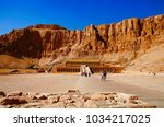 the mortuary temple of...   Shutterstock . vector #1034217025