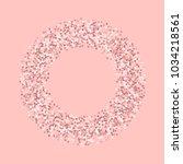 pink gold glitter. bagel shape... | Shutterstock .eps vector #1034218561