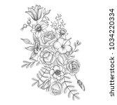 vintage vector floral...   Shutterstock .eps vector #1034220334