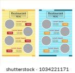 restaurant menu template flyer   Shutterstock .eps vector #1034221171