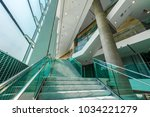 stairs in the modern lobby ... | Shutterstock . vector #1034221279