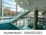 modern lobby  hallway  plaza ... | Shutterstock . vector #1034221321