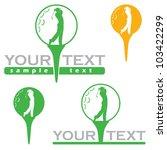 golf label   vector illustration   Shutterstock .eps vector #103422299