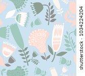 illustration of wildflowers | Shutterstock .eps vector #1034224204