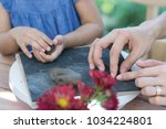 manual workshops for children ... | Shutterstock . vector #1034224801