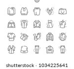 clothes well crafted pixel... | Shutterstock .eps vector #1034225641