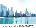 chicago downtown panorama by...   Shutterstock . vector #1034228275