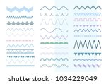 set of seamless soft colored... | Shutterstock .eps vector #1034229049