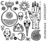animation set of alchemical... | Shutterstock .eps vector #1034232697