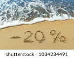 the inscription minus twenty... | Shutterstock . vector #1034234491