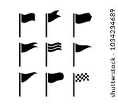 flag icon set vector   Shutterstock .eps vector #1034234689
